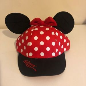 WDW Minnie Mouse Ears Baseball Hat Women/Youth